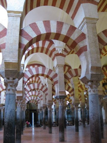 Paul's photo of the Interior of the Great Mosque of Cordoba.