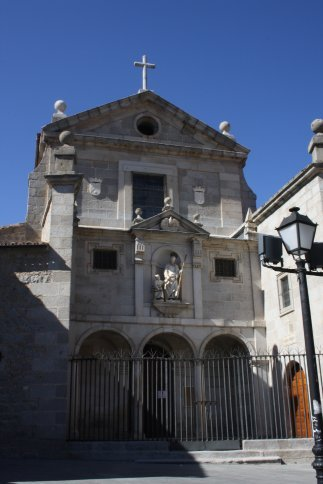 Iglasia Sant Hose, next to it is the monastry that houses many relics of Santa Theresa.