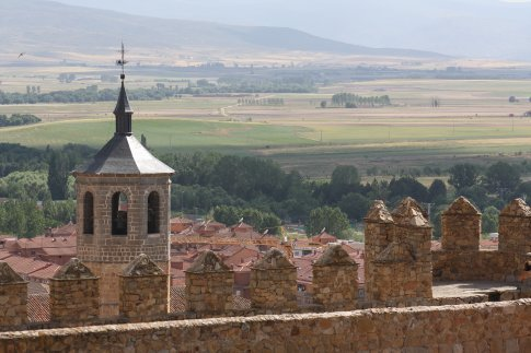 View of the plains and surrounding town of Avila from the town walls. Perhaps Santa Theresa had a view such as this in her levitations.
