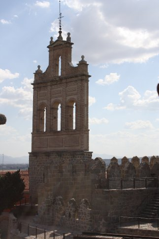 Bell tower of the Iglesia de Santa Theresa.