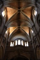 Interior of the Basillica San Vincente. Founded in the roman times on the site of the death of several Catholic maytrs. : by kathryn_hendy_ekers, Views[203]