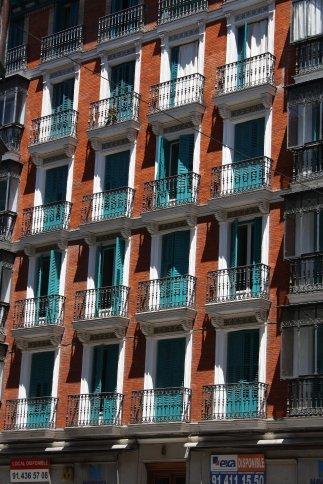Balconies in Lavapies, Madrid.