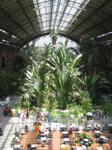 The new interior of Atocha Railway station completed after 2004.