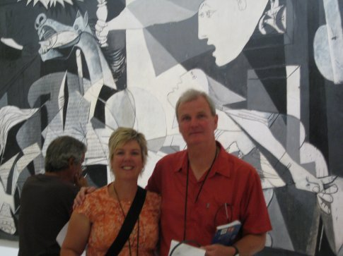 In front of Guernica.