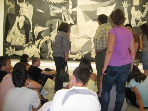 The dream art lesson in front of Guernica.