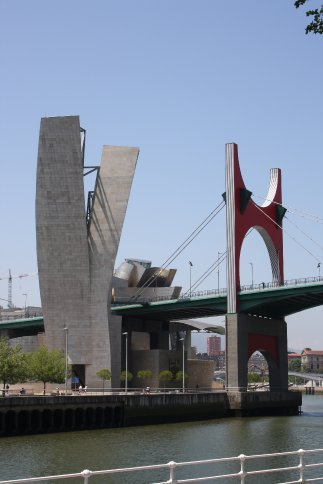 The bridge designed to fit with the Guggenheim.