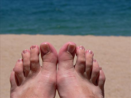 post pedicure feet!