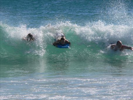 Surfing with Blair and Nat- that's me on the left