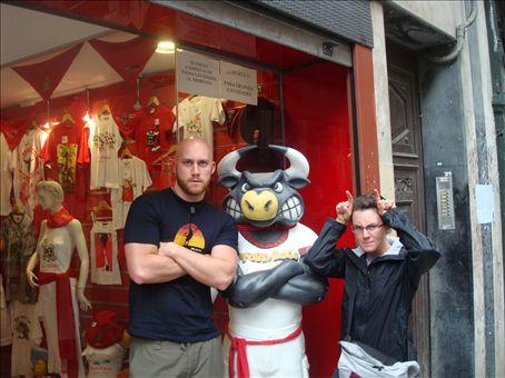 Pamplona, home of the Running of the Bulls
