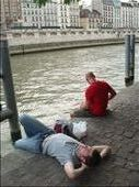 My two favorite men having lunch on the banks of the Seine River.: by katiekimberling, Views[212]