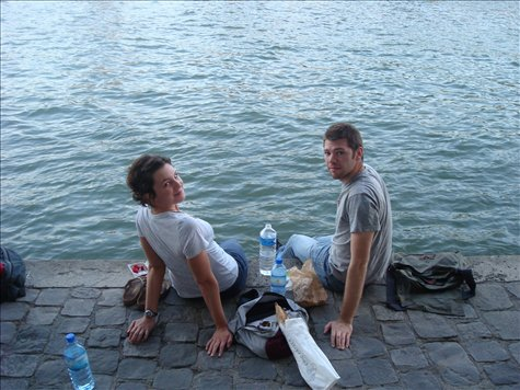Grant and I having a picnic in Paris