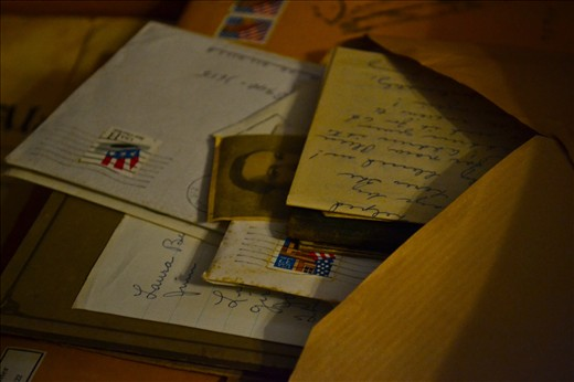 My grandparents got to know each other through a series of letters for a period of a few months. They had only been aquantinces when grandpa got sick and had to leave school. He and grandma wrote letters back and forth for about 6 months. When he was well and came back to school he proposed and they got married. This photo represents the time and letters spend to build their lasting love.
