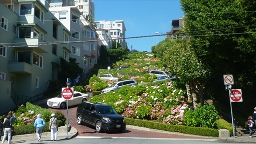 San Francisco's famous Lombard Street.