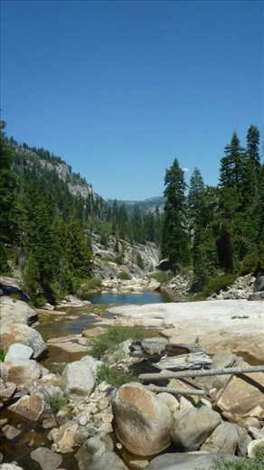 View on hike in Yosemite NP.