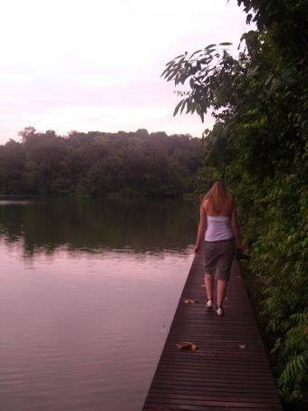 Walking into the rain forest!! watch out for snakes hanna TeeHee!