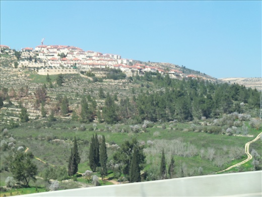 Driving to the old city of Jerusalem.