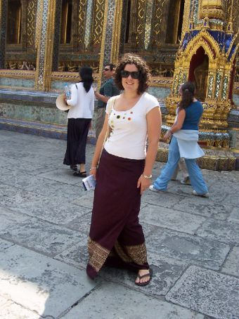 the Grand Palace - I had to borrow a sari skirt to cover my bare legs