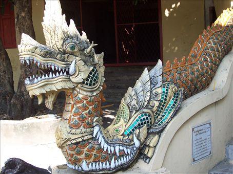 dragon at temple, Chiang Mai