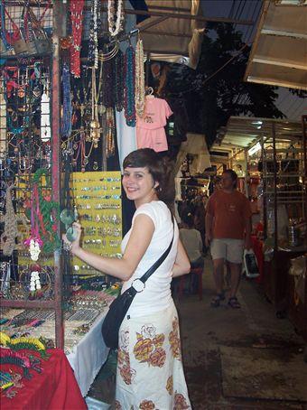 Jess at Night Bazaar