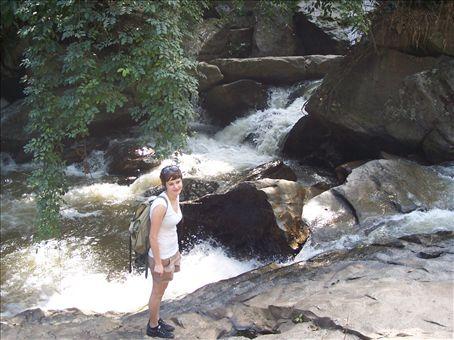 Jess at waterfalls