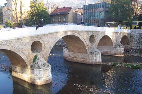 the bridge Franz Ferdinand was shot on, Sarajevo