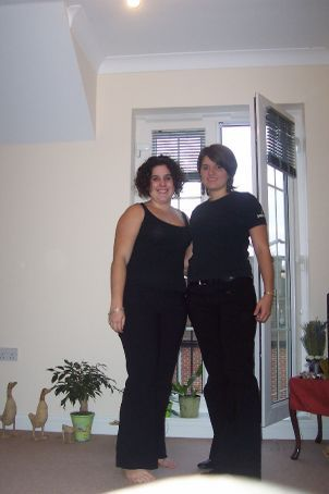 Natalie and I, in the hungerford flat