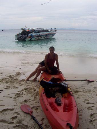 kyacking to Monkey beach