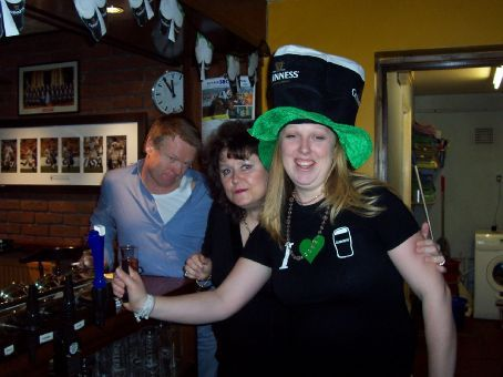 Little Pete, Karen and Leanne - St Patrick's Day
