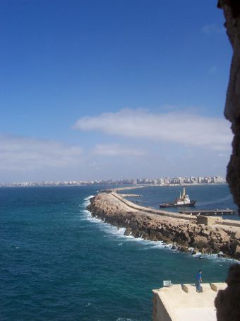 view from the sentry tower of the fort