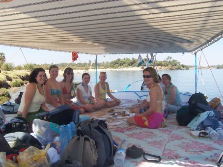 lunch on the felucca