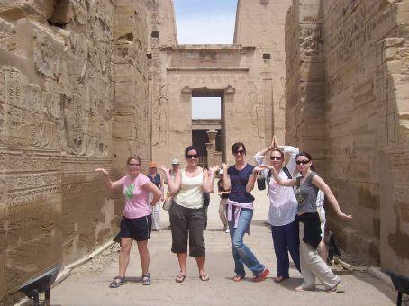 Kerryn, myself, Michelle, Sarah and Lyn at Edfu temple
