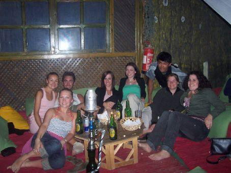 sarah, sally, grant, michelle, lyn, chris, kerryn and myself at The Tree, Dahab