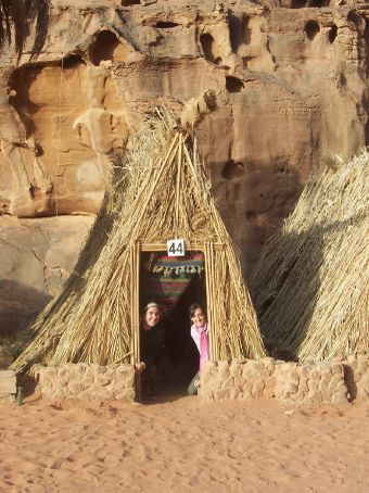 Michelle and I in our hut