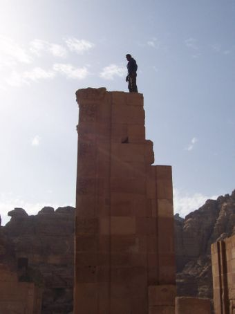 Achmed at the top of the pillar