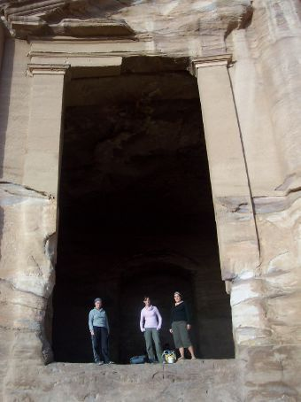 Kerryn, Michelle and I in the Monastery