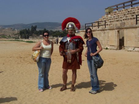 Michelle and I with the cheeky Roman soldier