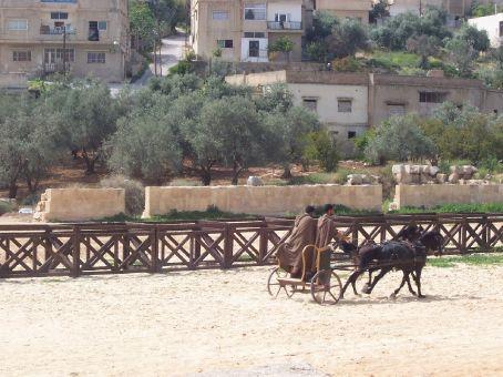 chariot racing at Jerash