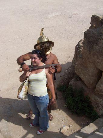 attacked by barbarians at jerash