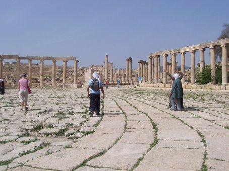 roman plaza at Jerash