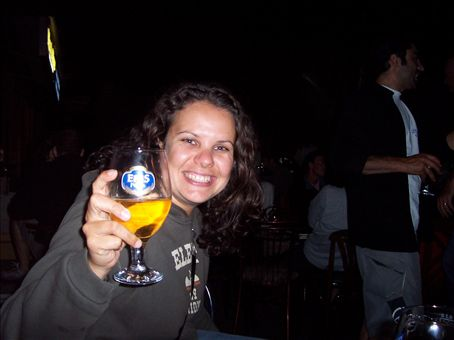 Laura on my last night in Istanbul, drinking at the backpacker bar