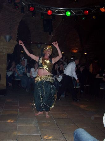 male belly dancer at On The Go gala dinner