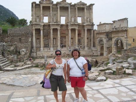 Anna and I at Ephesus