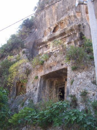 tombs in fethiye