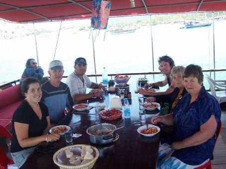 myself, gordon, mike, james, doris, and adrienne - last lunch on board
