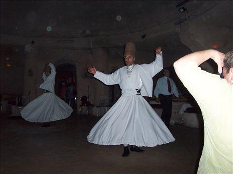 whirling dervishes (sufi dancing), turkish night, cappadocia