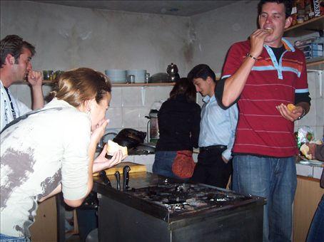 the food heist, Shoestring Kitchen