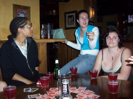 last night at the walkabout, Noemi, Lisa and Tegan