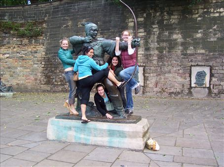 robin hood statue, Notts