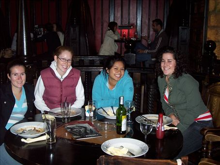 Anndrea, Kristine and I at lunch in Notts