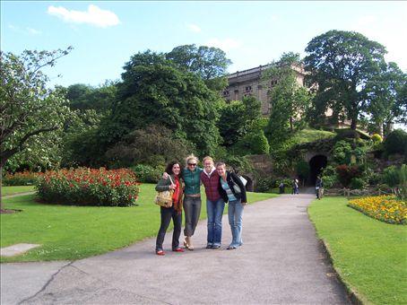 myself, bridget, anndrea and lisa, outside nottingham castle